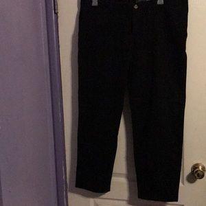 Plus size 18p black chino pants